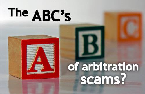 Understand arbitration scams
